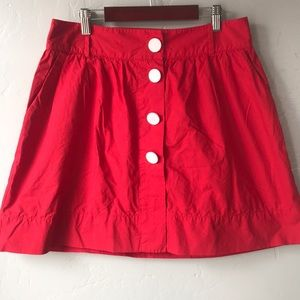 Urban Outfitters Lux Red Button Front Mini Skirt